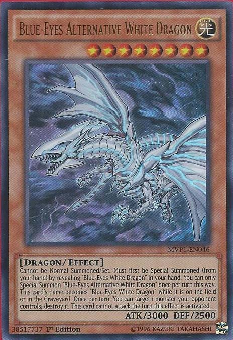 Blue-Eyes Alternative White Dragon - MVP1-EN046 - Ultra Rare - 1st