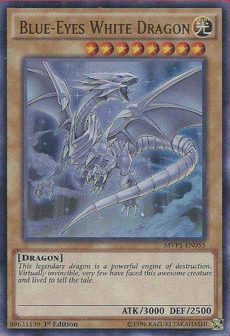 Blue-Eyes White Dragon - MVP1-EN055 - Ultra Rare - 1st Edition