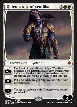 Gideon, Ally of Zendikar - SDCC 2016 Exclusive Promo