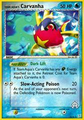 Team Aqua's Carvanha - 25/95 - Uncommon