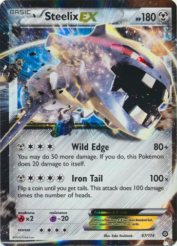 Steelix-EX - 67/114 - Holo Rare ex