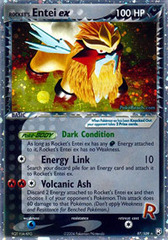 Rocket's Entei-EX - 97/109 - Rare Holo EX on Channel Fireball