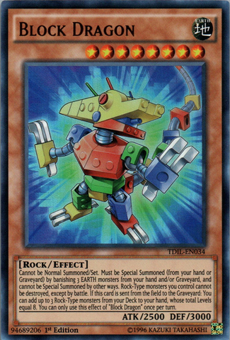 Block Dragon - TDIL-EN034 - Ultra Rare - 1st Edition
