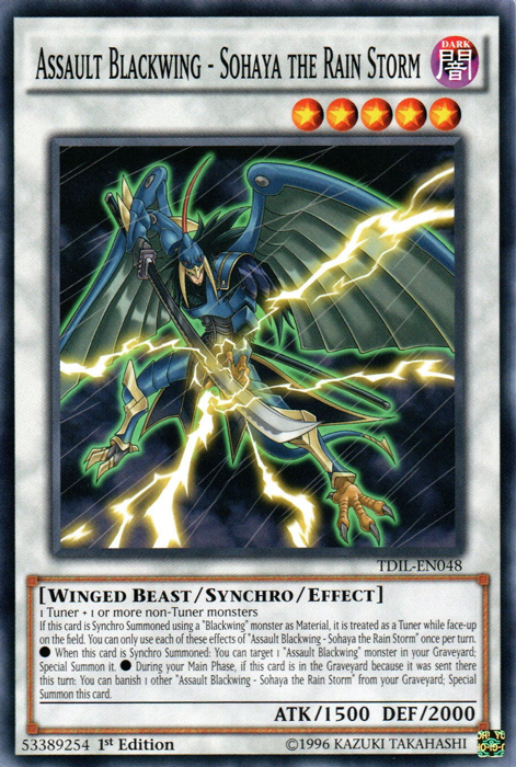 Assault Blackwing - Sohaya the Rain Storm - TDIL-EN048 - Common - 1st Edition