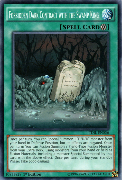 Forbidden Dark Contract with the Swamp King - TDIL-EN056 - Common - 1st Edition