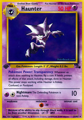 Haunter - 21/62 - Rare - 1st Edition