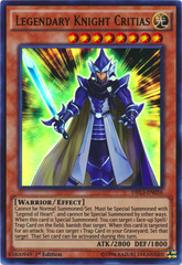 Legendary Knight Critias - DRL3-EN056 - Ultra Rare - 1st Edition