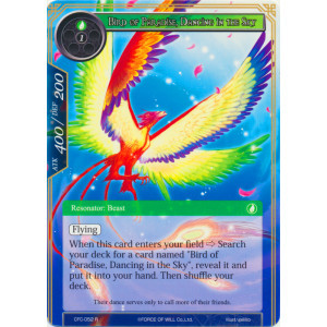 Bird of Paradise, Dancing in the Sky - CFC-052 - R - Textured Foil