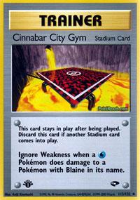 Cinnabar City Gym - 113/132 - Uncommon - 1st Edition