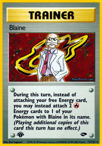 Blaine - 17/132 - Holo Rare - 1st Edition