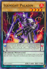 Igknight Paladin - MP16-EN067 - Common - 1st Edition