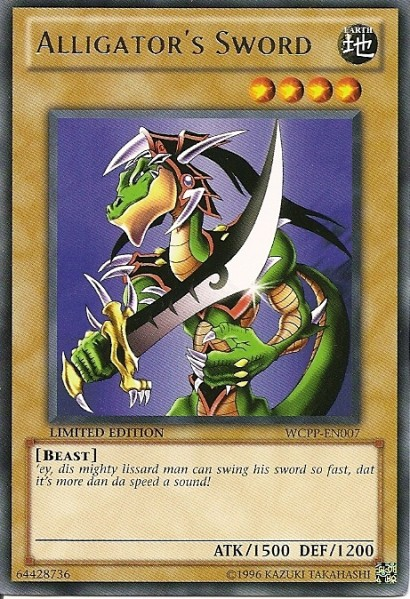 Alligator's Sword - WCPP-EN007 - Rare - Limited Edition