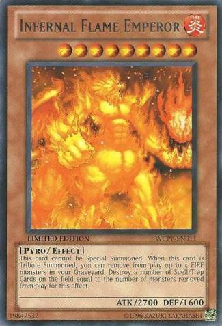 Infernal Flame Emperor - WCPP-EN011 - Rare - Promo Edition