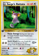 Lt. Surge's Rattata - 85/132 - Common - 1st Edition