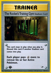 The Rocket's Training Gym - 104/132 - Rare - 1st Edition