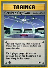 Cerulean City Gym - 108/132 Uncommon - 1st Edition