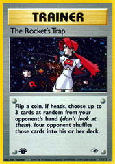 The Rocket's Trap - 19/132 - Holo Rare - 1st Edition