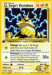 Lt. Surge's Electabuzz - 6/132 - Holo Rare - 1st Edition