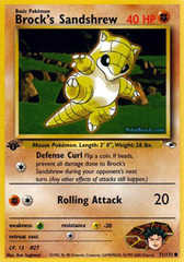 Brock's Sandshrew - 71/132 - Common - 1st Edition
