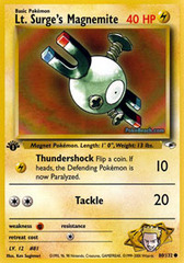 Lt. Surge's Magnemite - 80/132 - Common - 1st Edition