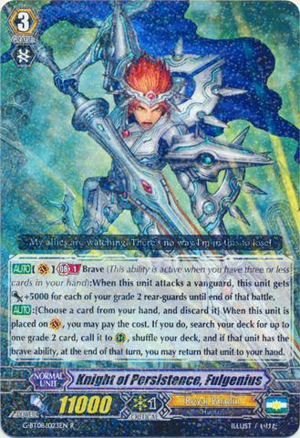 Knight of Persistence, Fulgenius - G-BT08/023EN - R