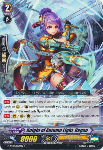 Knight of Autumn Light, Regan - G-BT08/053EN - C