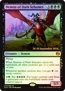 Demon of Dark Schemes - Foil - Prerelease Promo