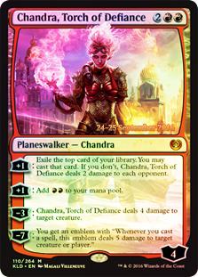 Chandra, Torch of Defiance - Foil - Prerelease Promo