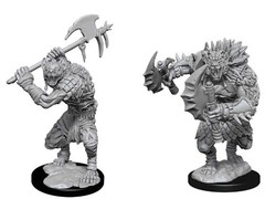 Dungeons And Dragons: Nolzur's Marvelous Unpainted Miniatures - Gnolls(Double Axe)
