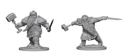 Dungeons And Dragons: Nolzur's Marvelous Unpainted Miniatures - Dwarf Fighter Male