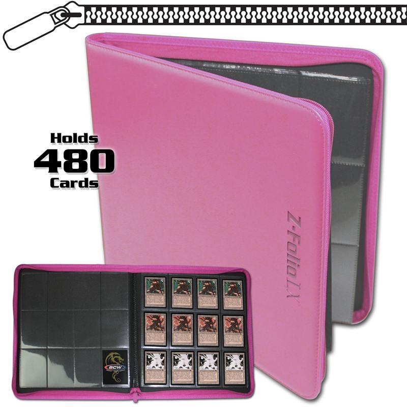 BCW Z-Folio 12-Pocket LX Album - Pink