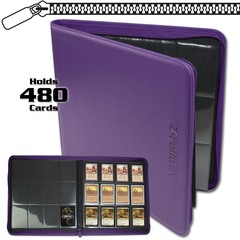 BCW Z-Folio 12-Pocket LX Album - Purple