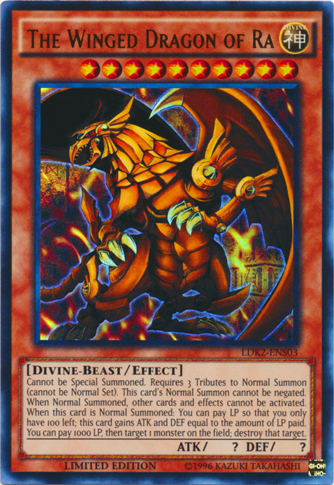 The Winged Dragon of Ra - LDK2-ENS03 - Ultra Rare - Limited Edition