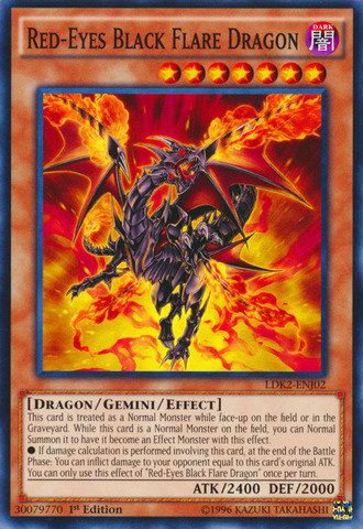 Red-Eyes Black Flare Dragon - LDK2-ENJ02 - Common - 1st Edition