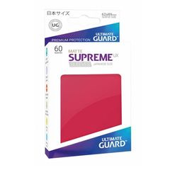 Matte - Red - Supreme UX (Ultimate Guard) - Small Sleeves - 60ct