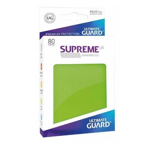 Ultimate Guard - Supreme UX Sleeves Standard Size - Light Green (80)