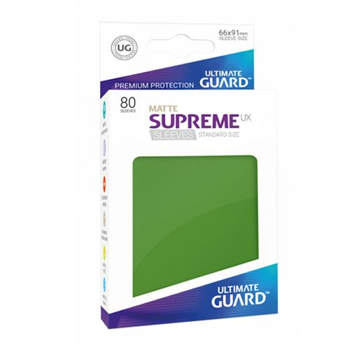 Ultimate Guard - Supreme UX Sleeves Standard Size - Matte - Green (80)