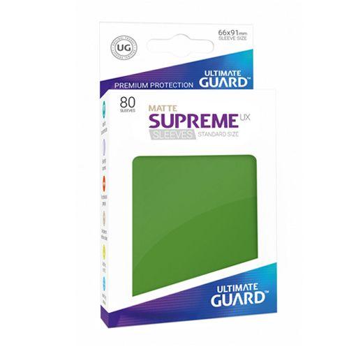 Ultimate Guard - Supreme UX Sleeves Standard Size - Matte - Green (80)