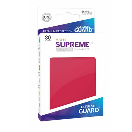 Ultimate Guard - Supreme UX Sleeves Standard Size - Matte - Red (80)