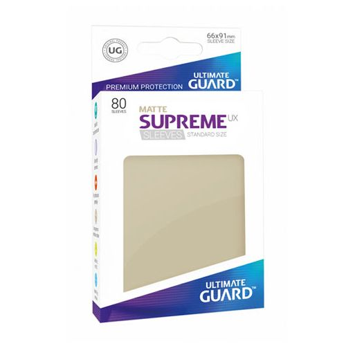 Ultimate Guard - Supreme UX Sleeves Standard Size - Matte - Sand (80)
