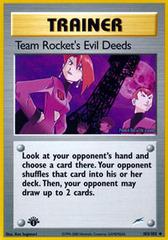 Team Rockets Evil Deeds - 103/105 - Uncommon - 1st Edition