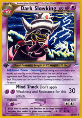 Dark Slowking - 20/105 - Rare - 1st Edition
