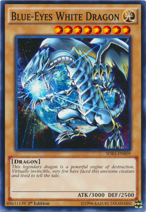 Blue-Eyes White Dragon - SDKS-EN009 - Common - 1st Edition
