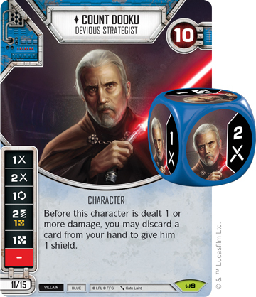 Count Dooku - Devious Strategist (Sold with matching Die)