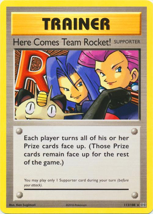 Here Comes Team Rocket! Secret Rare XY Evolutions Pokemon 113//108