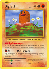 Diglett - 55/108 - Common on Channel Fireball