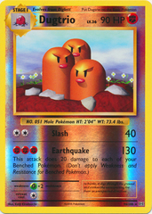 Dugtrio - 56/108 - Rare - Reverse Holo on Channel Fireball