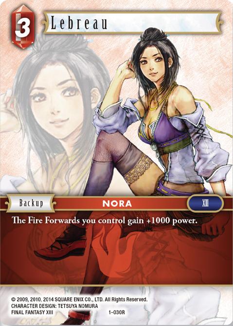 1-020R RARE Final Fantasy TCG OPUS 1 Fang NM
