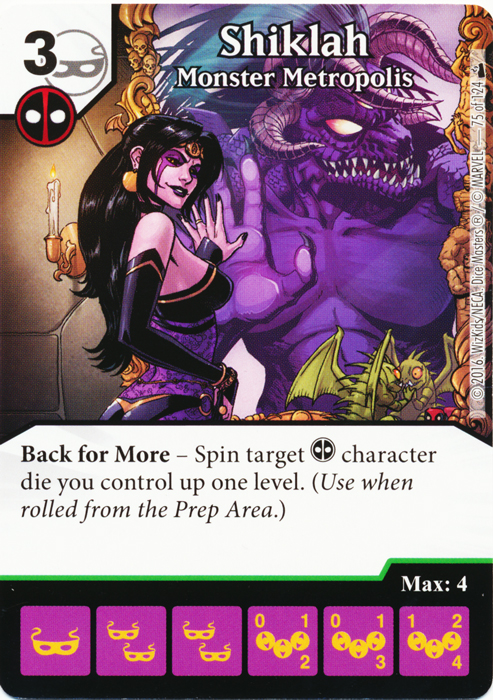 Shiklah - Monster Metropolis (Foil) (Die & Card Combo)