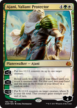 Ajani, Valiant Protector - Foil - Planeswalker Deck Exclusive